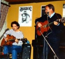 Serge Lelièvre avec Jean-Marie Vivier en tournée.